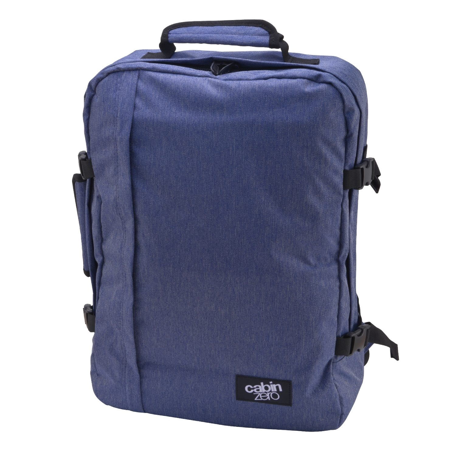 Cabinzero Classic Ultra Light Cabin Bag With Luggage Trackers 44l Blue Jean
